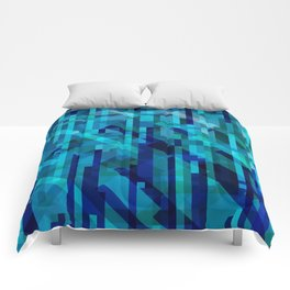 abstract composition in blues Comforters