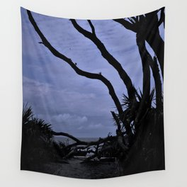 Entrance to Drift Wood Beach Wall Tapestry