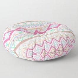 Pink teal Aztec Tribal Diamond geometric Pattern Floor Pillow