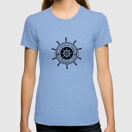 Nautical - If you think adventure is dangerous, try routine it's lethal T-shirt