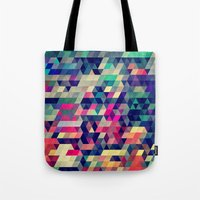 shapes Tote Bags featuring Atym by Spires