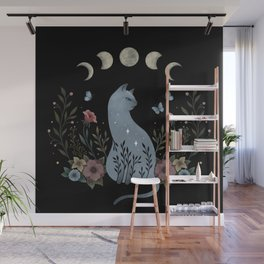 Cat on the Hill Wall Mural