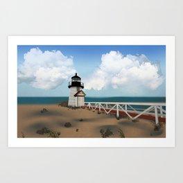 Brant Point Light Art Print