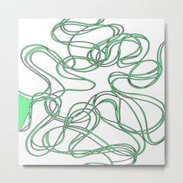 Tyre in green Metal Print