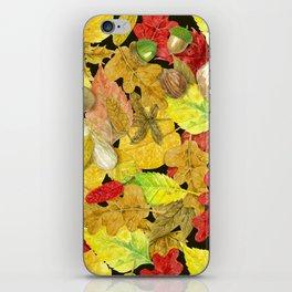 Watercolor autumn pattern iPhone Skin