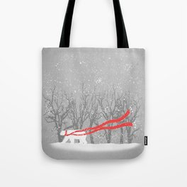 The Red Scarf Tote Bag