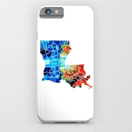 Louisiana Map - State Maps By Sharon Cummings iPhone Case
