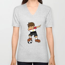 Egypt Soccer Ball Dabbing Kid Egyptian Football 2018 Unisex V-Neck
