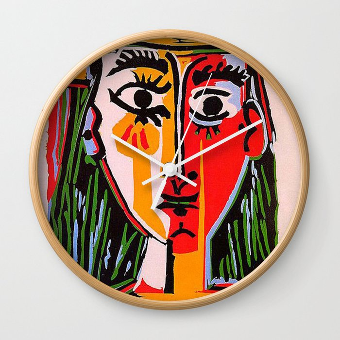 Head of a woman in a Hat Picasso Wall Clock