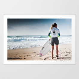 Stephanie Gilmore, Hossegor, France, 2013 Art Print