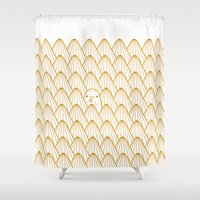donut Shower Curtains featuring Donut by Jarvis Glasses