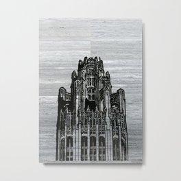 Triptych 3 - Tribune Tower Metal Print