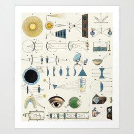 Optics Art Print
