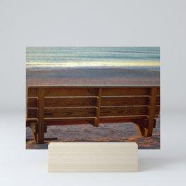 Coastal Bench Mini Art Print