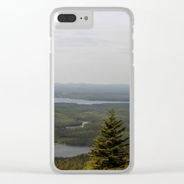 Early Morning Fog Lifting in Acadia National Park Clear iPhone Case