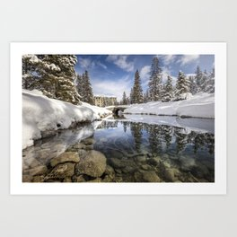 Lake Louise River Art Print