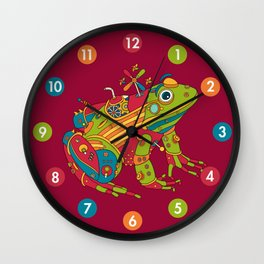 Frog, cool wall art for kids and adults alike Wall Clock