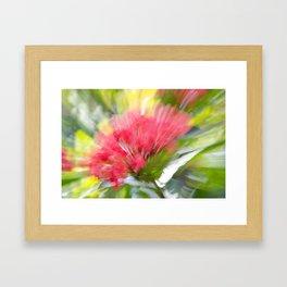 Flower Burst - Electric Magenta Framed Art Print