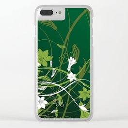 Art Flowers V15 Clear iPhone Case