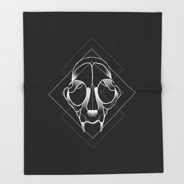 Catskull Throw Blanket
