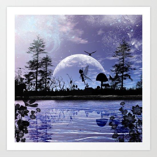 Fairy silhouette Art Print
