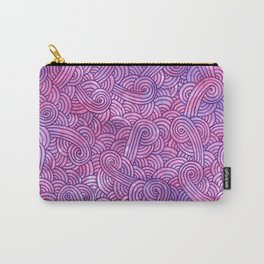 Hot pink and purple swirls doodles Carry-All Pouch