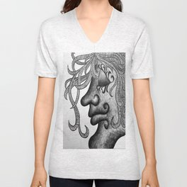 Twisted Tendrils Unisex V-Neck