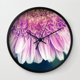 Painted Gerber Daisy Wall Clock