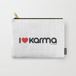 I Love Karma Carry-All Pouch