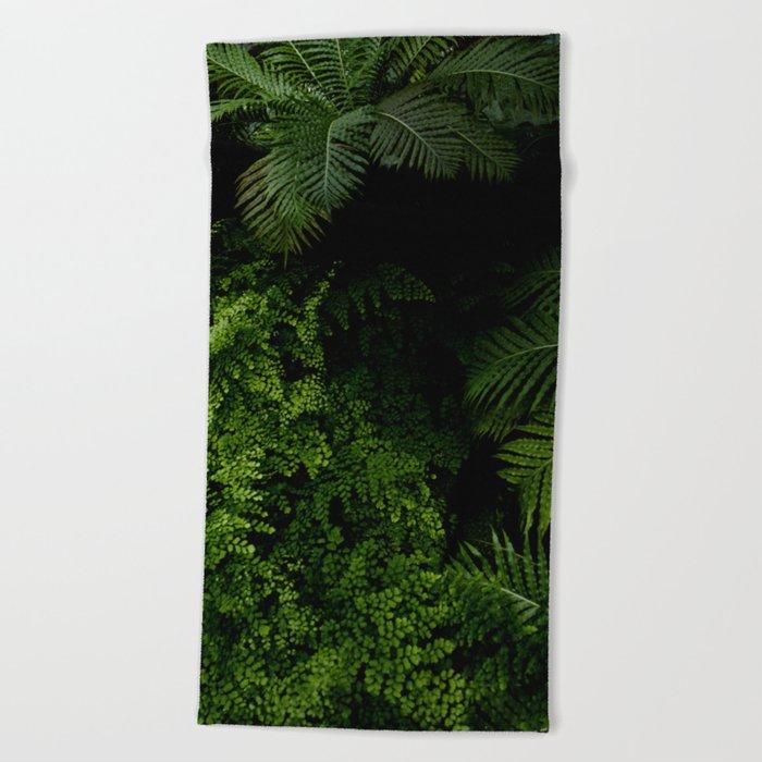 Tropical jungle. Beach Towel