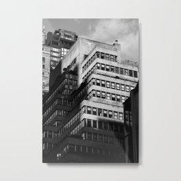 Old apartment building in Midtown Manhattan New York City Metal Print
