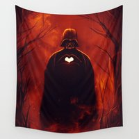 vader Wall Tapestries featuring Heart Vader by nicebleed