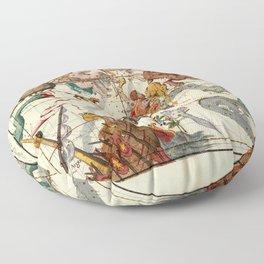 Globi Coelestis Plate 3 Floor Pillow