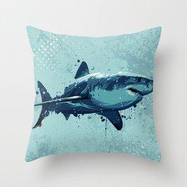 Guppy   Great White Shark Throw Pillow