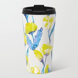 Yellow loves blue Travel Mug