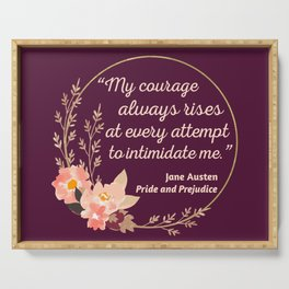 Pride and Prejudice Quote I - Cute Style Serving Tray