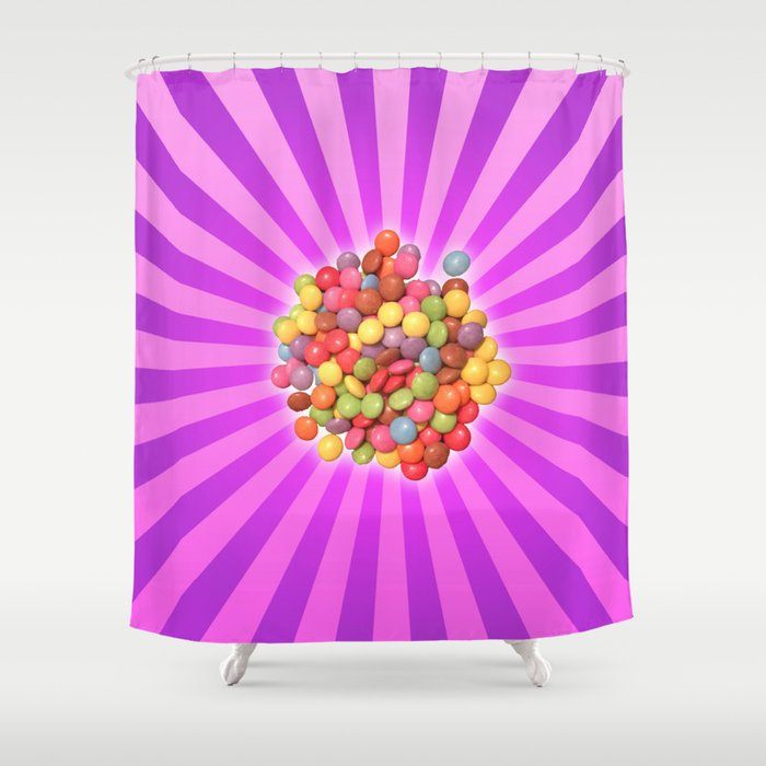 Colourful Smarties Shower Curtain