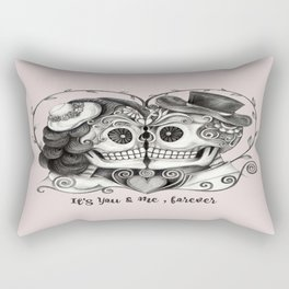 Sugar Skull Couple, It's You and Me, Forever Rectangular Pillow