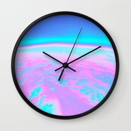 Holographic Planet Wall Clock