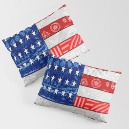 Retro American Flag Pillow Sham