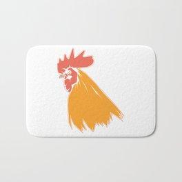 Rooster Cock Head Feather Chicken Bird Gift Bath Mat