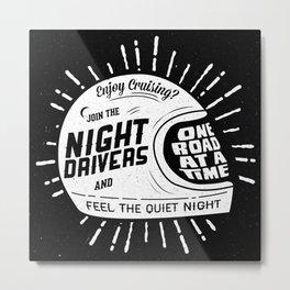 Night Driver, Cafe Racer.  Metal Print