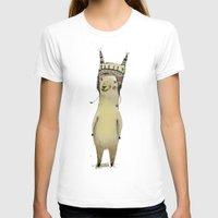 llama T-shirts featuring Llama by Paola Zakimi