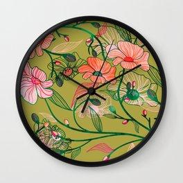 Twinning #illustration #pattern Wall Clock