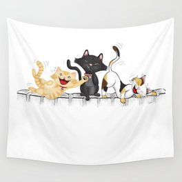 CATS DEAD OF LAUGHTER Wall Tapestry