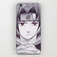 sasuke iPhone & iPod Skins featuring Sasuke Uchiha by DeMoose_Art