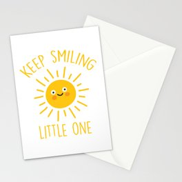 Keep Smiling Little One, Quote Stationery Cards