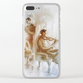 [ 221B ] Baker Street - sherlock holmes & john watson Clear iPhone Case