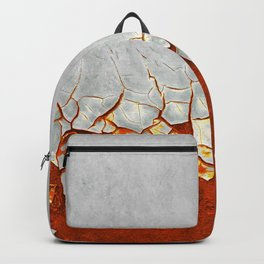 Rust and Grey Backpack