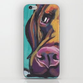 Fun Chocolate Lab Dog bright colorful Pop Art Labrador iPhone Skin